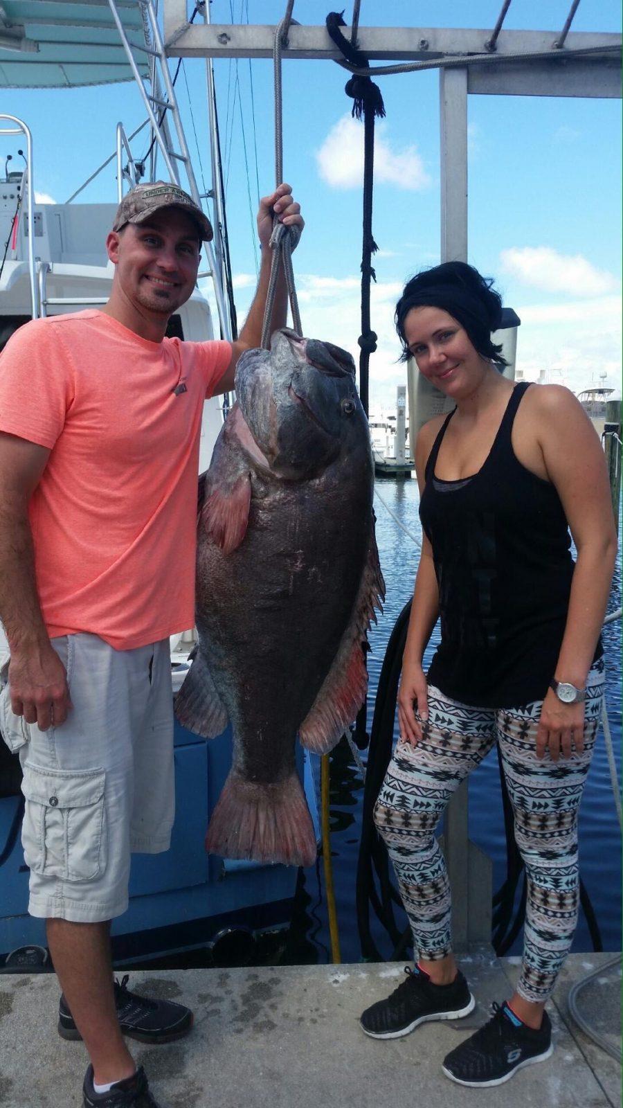 Big Grouper caught off Fort Lauderdale