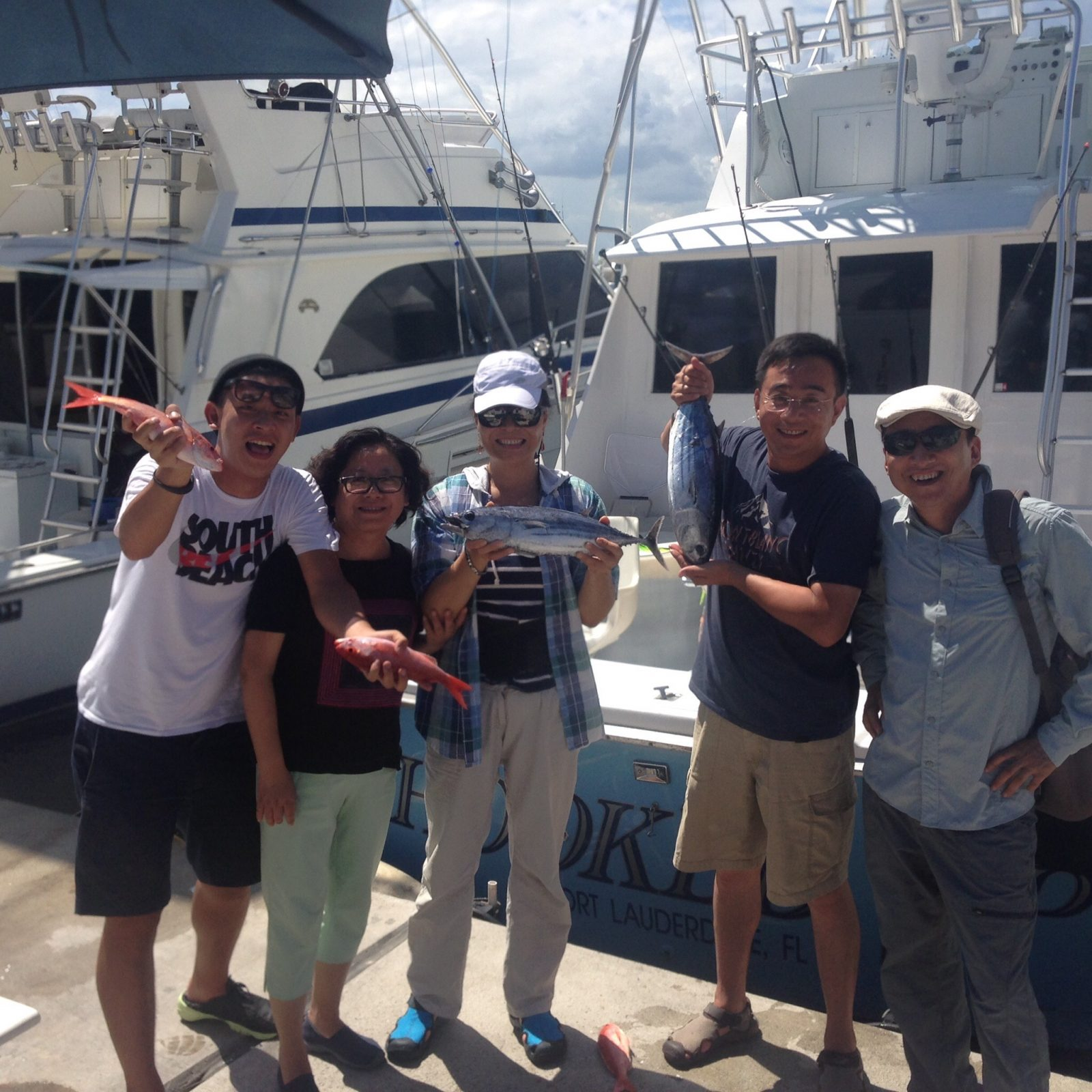 FISHING WITH CHOW AND HIS FAMILT